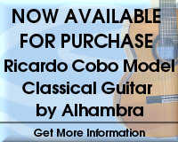 Ricardo Cobo Model Classical Guitar by Alhambra